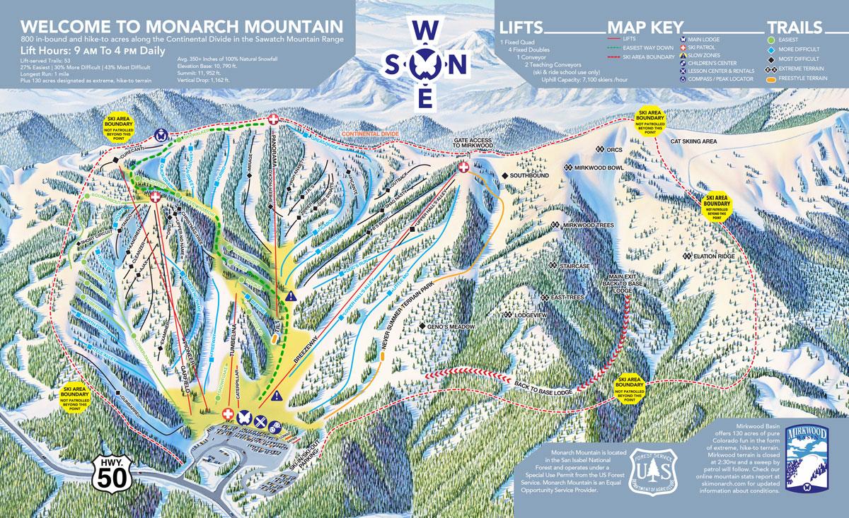 Monarch Mountain Trail Map