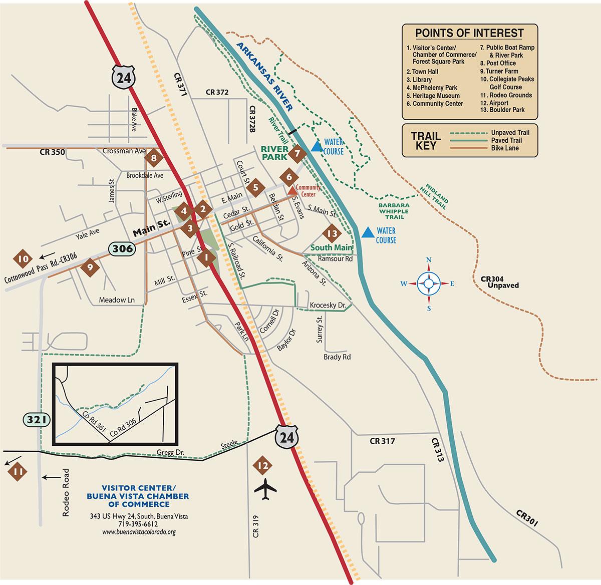 Town Of Buena Vista, Colorado Map