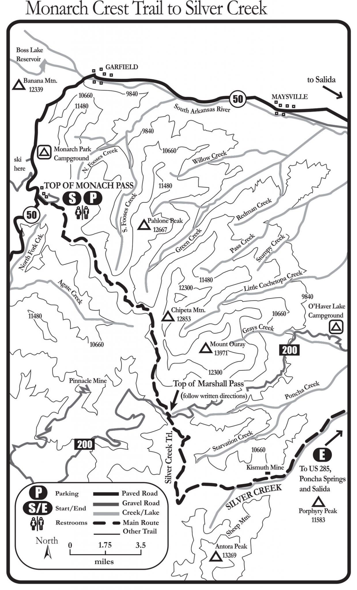 monarch crest to silver creek
