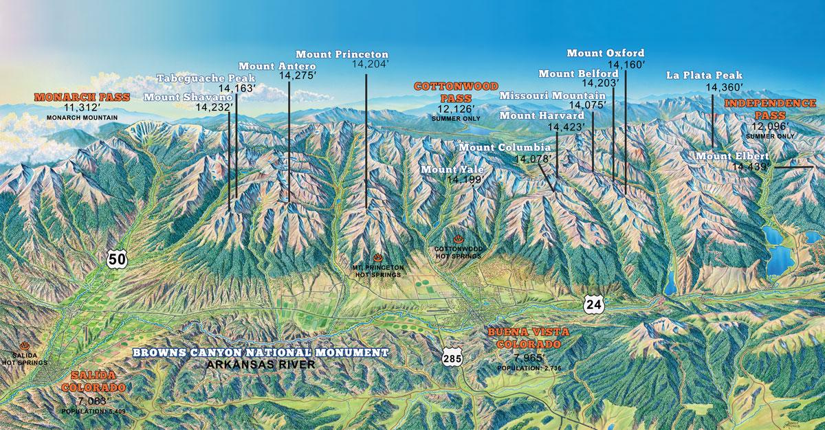 Sawatch Mountain Range 14ers