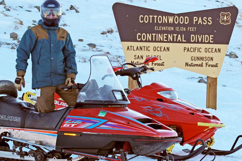 Snowmobiling Cottonwwod Pass